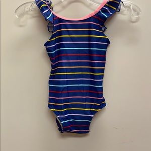 Hanna Andersson Striped Swimsuit 75 / 12-18months